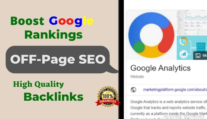 Monthly off page optimization service for High Quality SEO link building