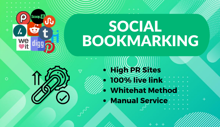 I will Create 100 top PR Social Bookmarking Backlinks