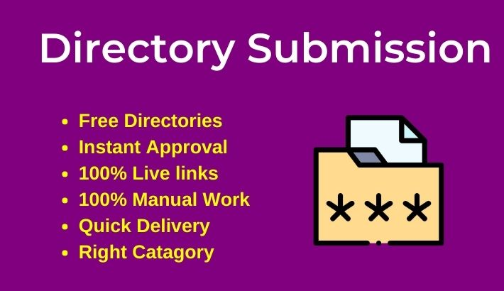 100 Directory Submissions Live links with Instant approval directories