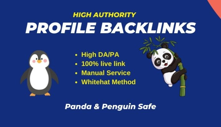 50 high authority Profile Creation Backlink manually from DA 60 + websites
