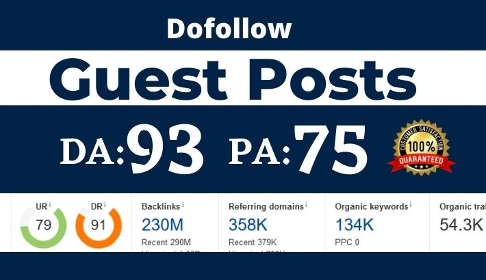 Write and Publish High Authority Dofollow Guest post - DA 80+