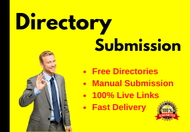 Manually 50 Directory Submissions live links with Instant approval
