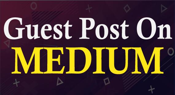 I will do guest post on medium da-94