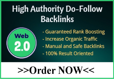 I will create manually 50 dofollow web 2.0 backlinks