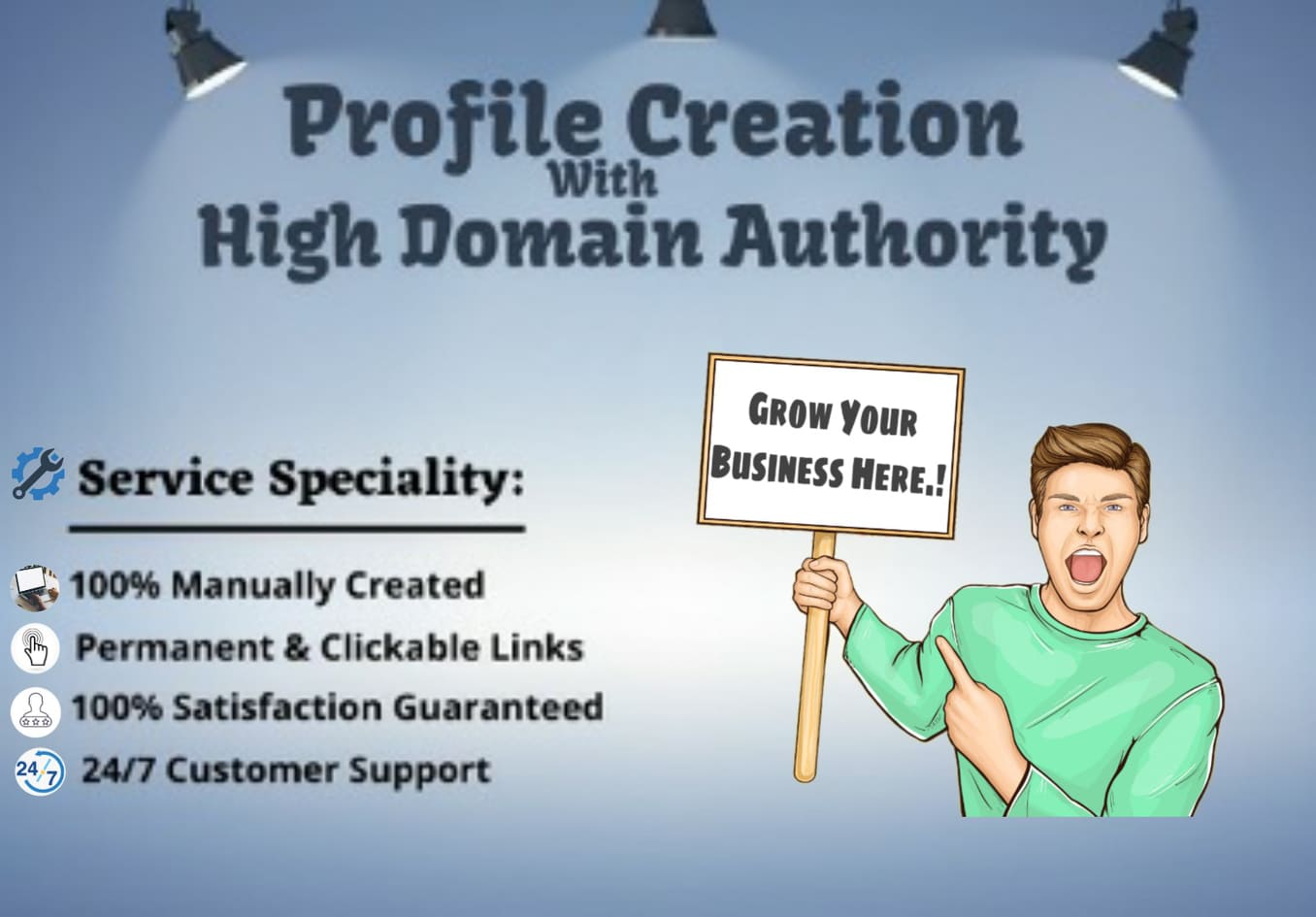 I Will Build 40 Permanent and Clickable High Authority Profile Creation Backlinks