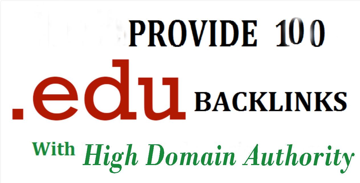 Provide 100 edu backlinks with high domain authority