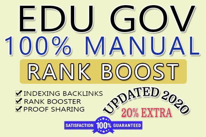Add create 100 edu backlinks with high domain authority