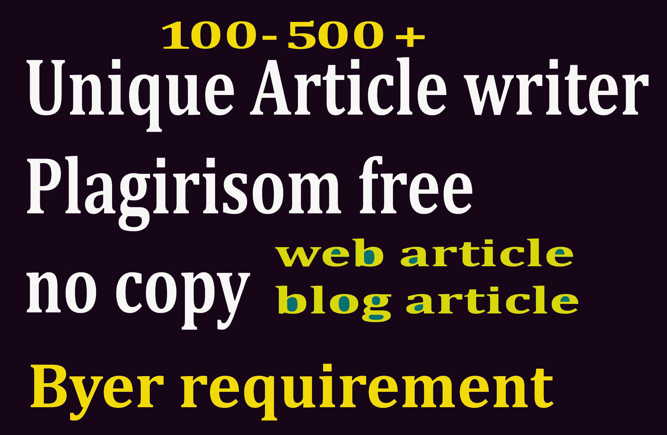 100-500+ web based H/Q article