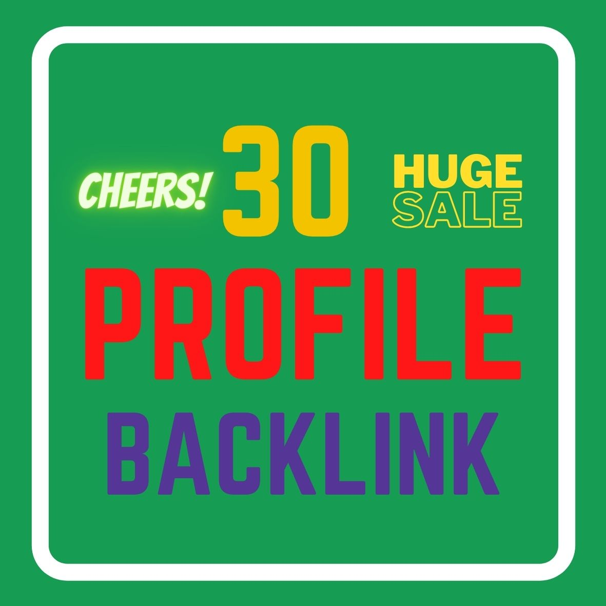 I will Create 30 Profile Back-link in 12 hours