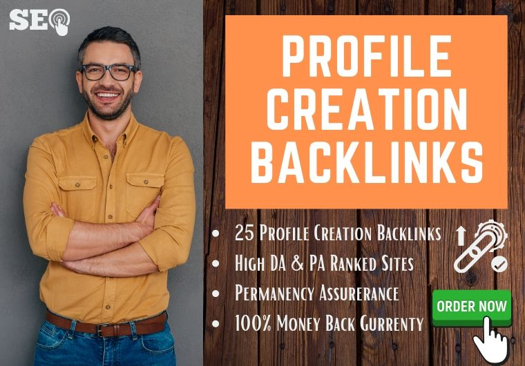 I will create authentic 100 social profile creation backlinks for your website