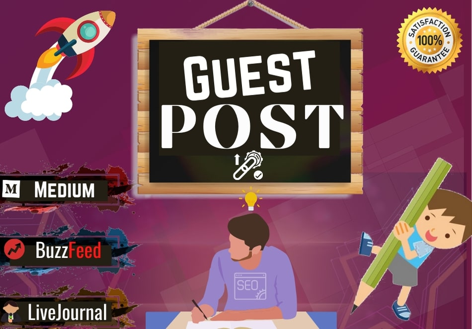 Write & publish Guest Post on 3 High DA & PA ranked websites