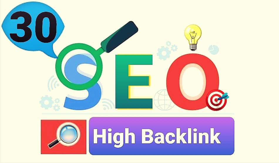 Gain 30 High SEO Backlink with promotion