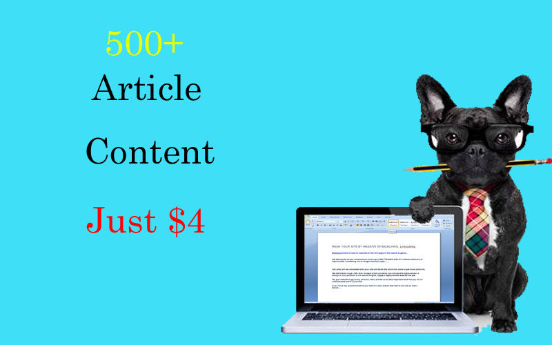 I will write 500+ words articles/content just 1 day