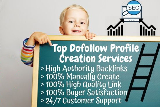 I Will Do 100 Genuine Dofollow Profile Creation or Backlinks With High DA