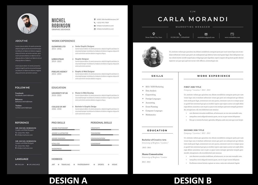 I will design a professional resume in 24 hours