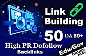 I will submit 50 DA 80 plus high pr quality dofollow Backlinks