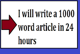I will do a 1000 words Unique Article writing,  content writing for you within 24 hours.
