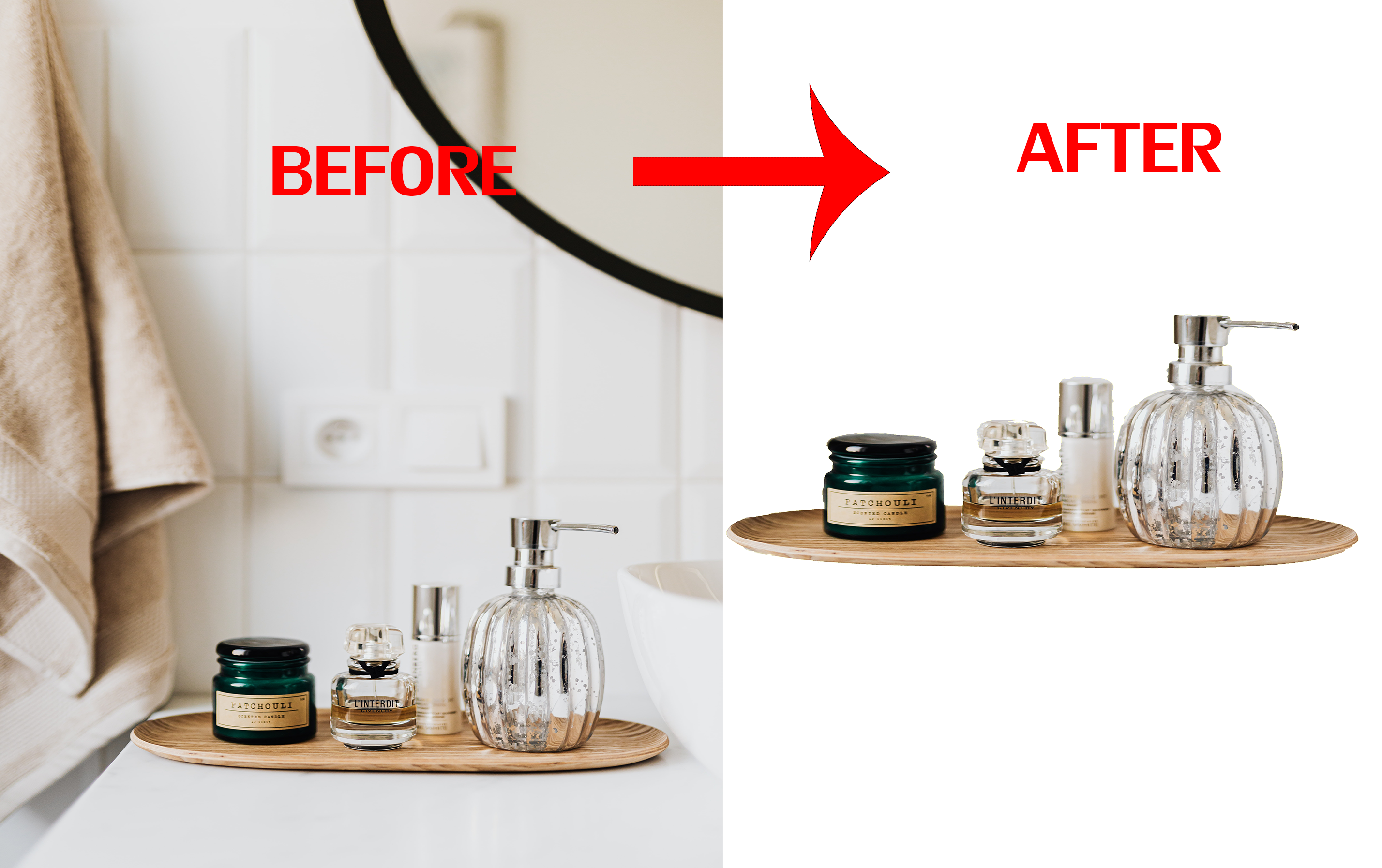 Remove Background of 5 product images lass than 24hr