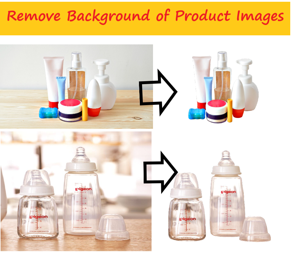 Remove Background of 10 product images lass than 24hr
