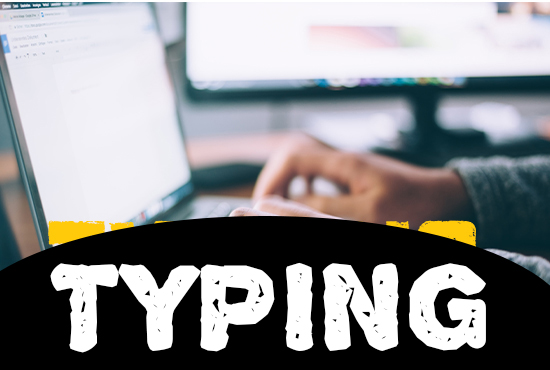 I will do a fast typing job,  retype scanned documents for English and Sinhala