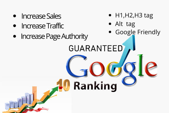 I will do Google Top Ranking Job for You