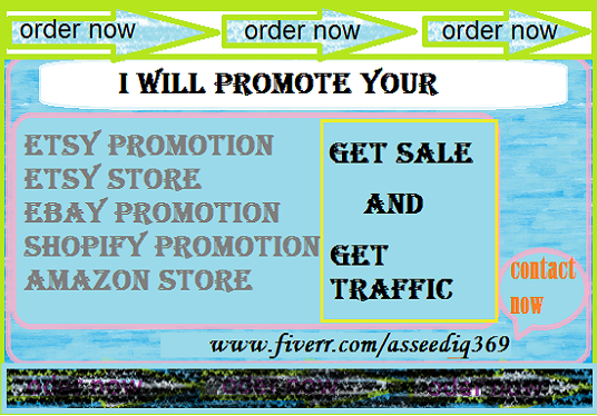 I will promote your etsy ebay shopify store to an active USA niche to get sales