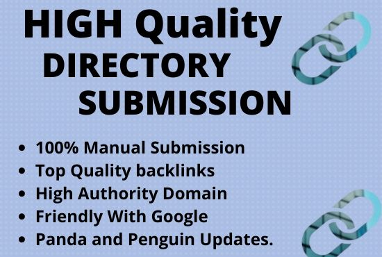 I will give 50 web Directory Submission Manually