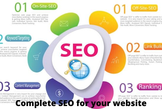 I will complete SEO optimisation pack for website to top ranking