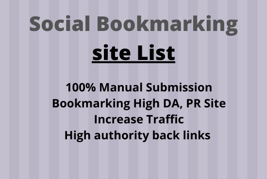 I will Create Manually 50 social bookmark backlink