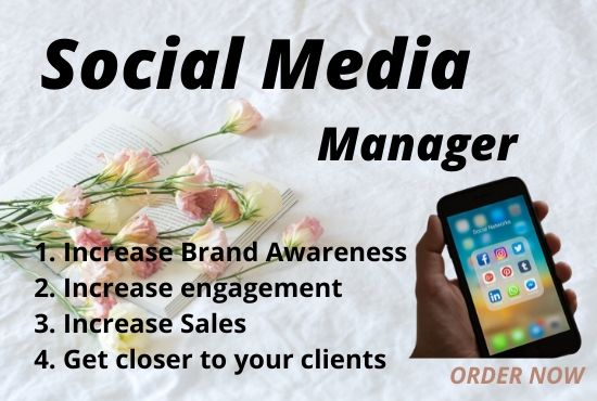 I will be your Social Media Manager and Content Creator