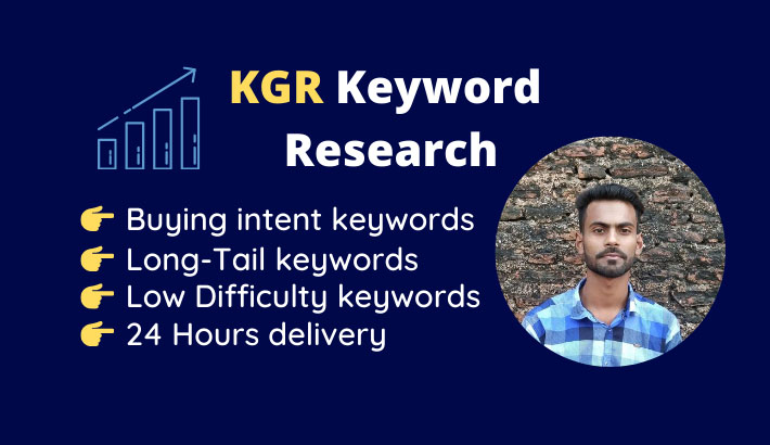 I will find kgr keyword research that will rank fast