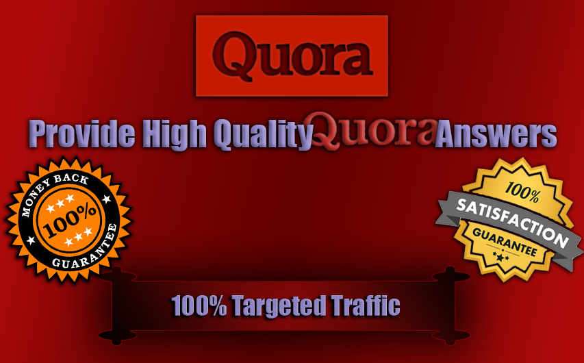 Provide 100 Qoura answers including your URL and Keywords