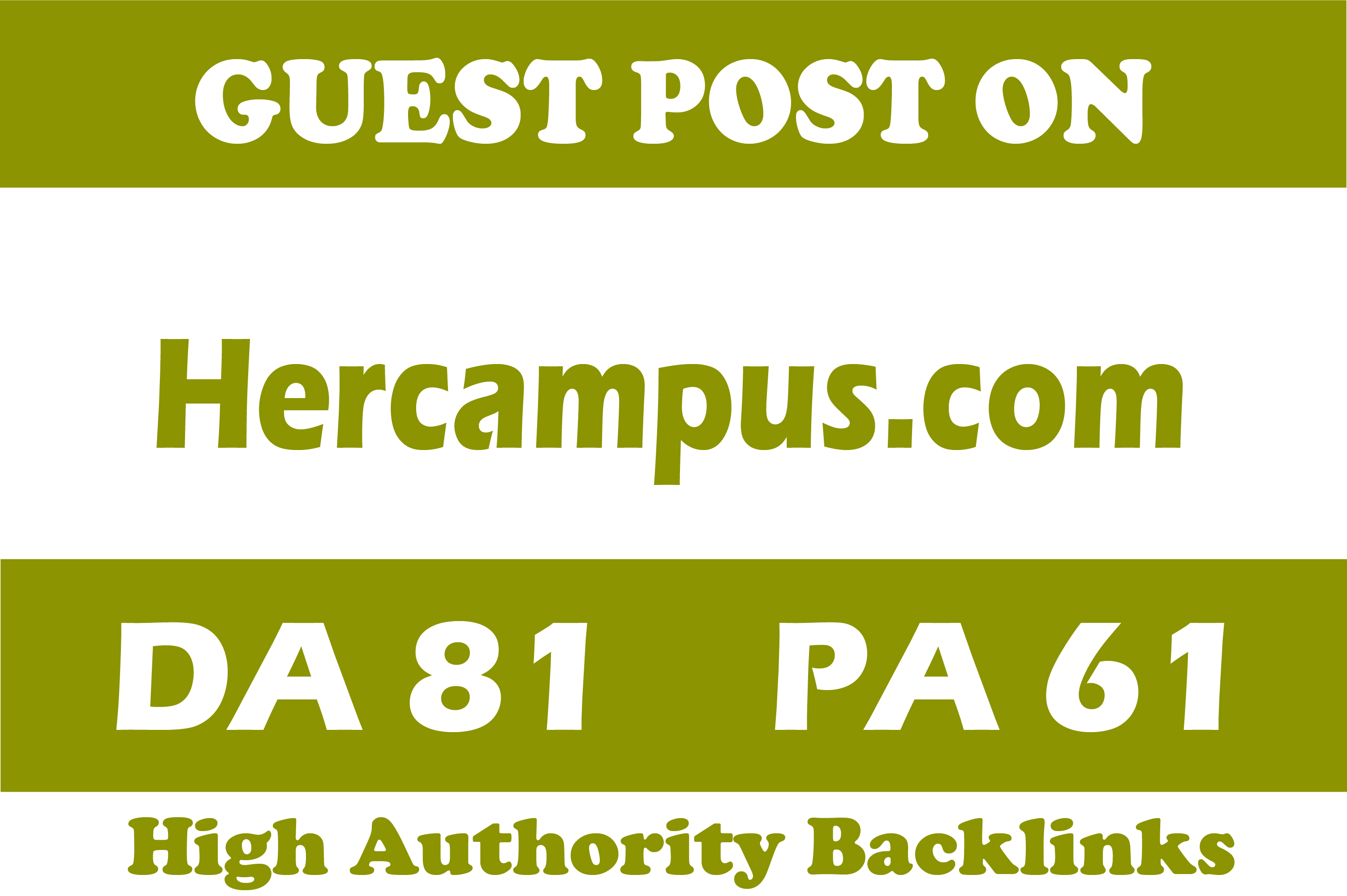 Publish guest post on Hercampus dot com high quality site for your website ranking