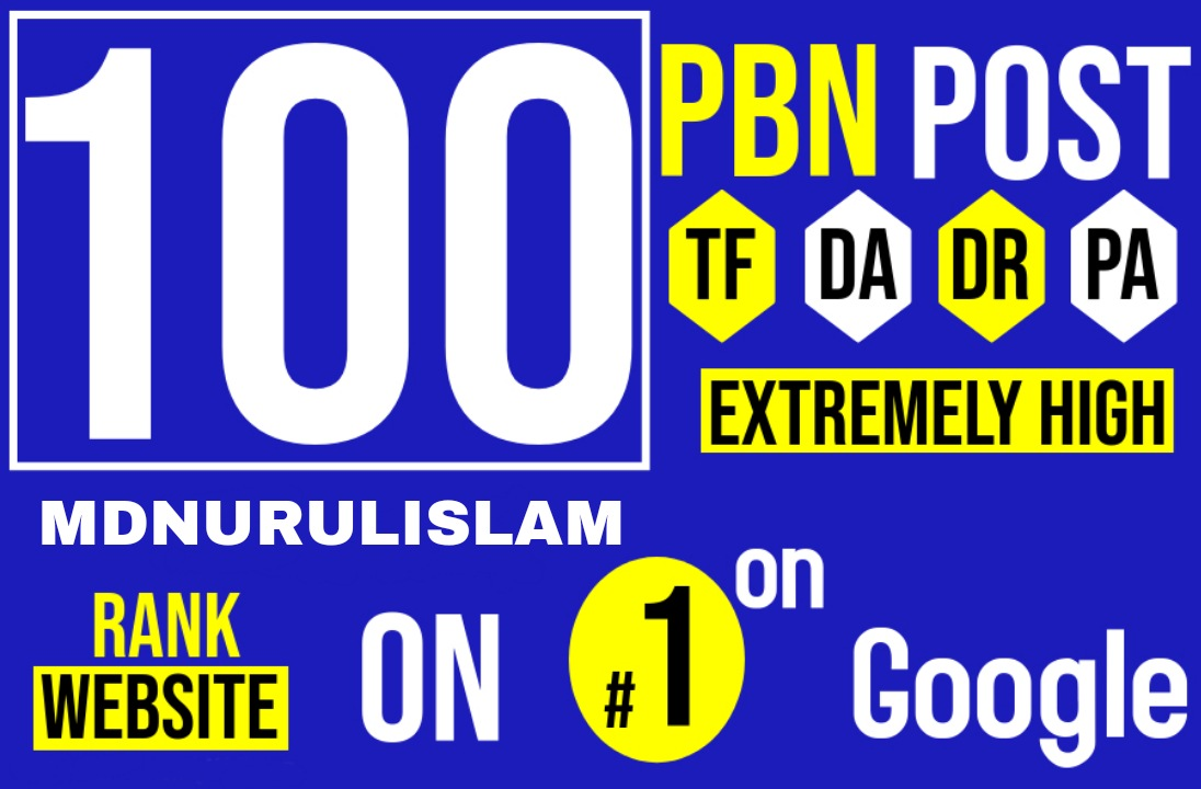 100 Permanent PBNs DR 60+ High Authority Homepage Do-follow Backlinks - Highly Recommended