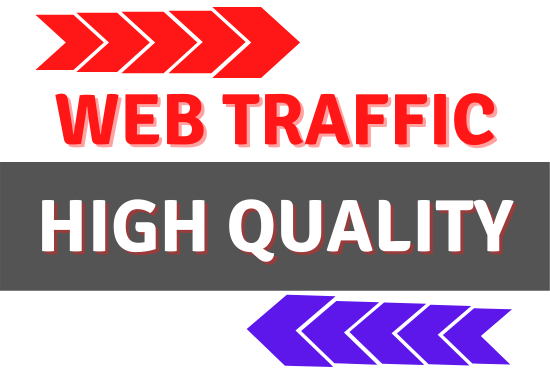 Provide High Quality Web Traffic from Google and Many other web sites