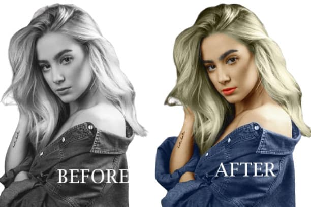 I will photo background removal and black and white photo colorized