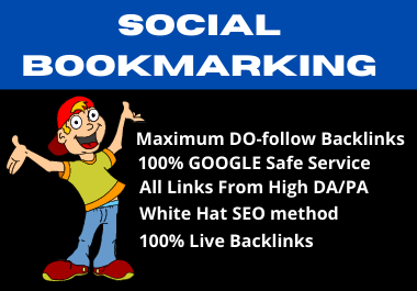I Will Provide High Quality 50 Social Bookmarking Backlinks for your website