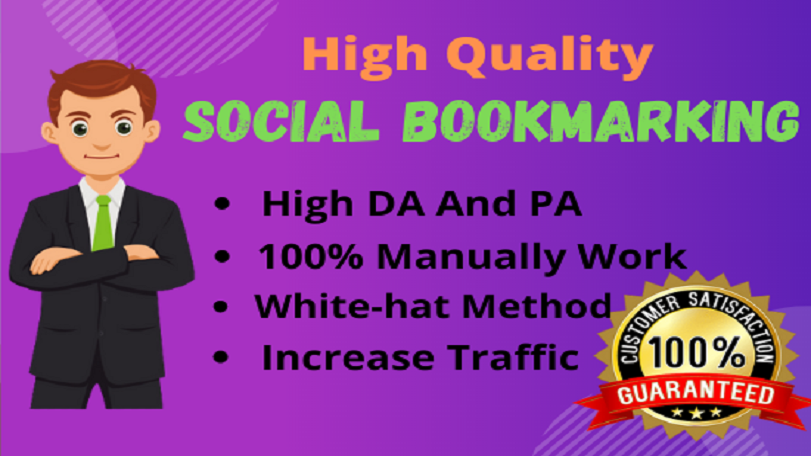 I Will Do 50 High Quality Social Bookmarking submissions Backlink/ linkbuilding