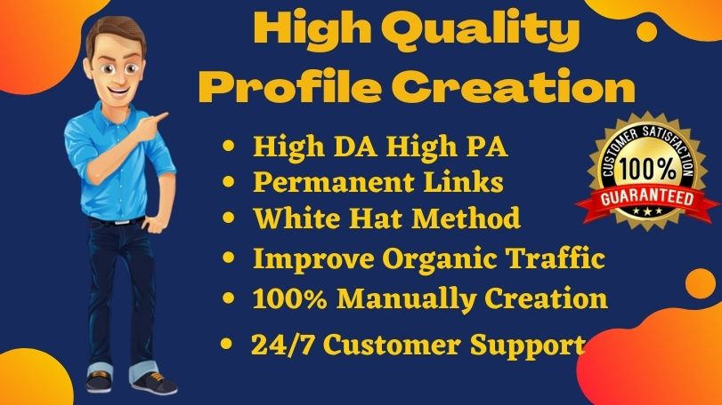 I will create 25 High Authority profile creation backlink for your website Ranking