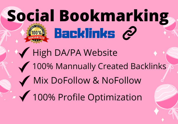 I will Create 50 H/G Social Bookmarking Backlinks