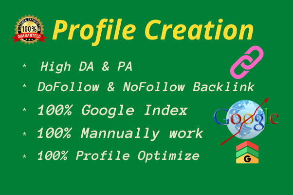 I will Build 30 High Authority Profile Creation Backlinks