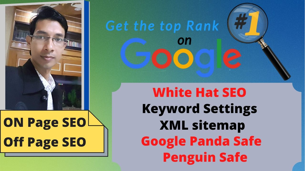 I Will do Google Top Ranking your any Website with White Hats SEO