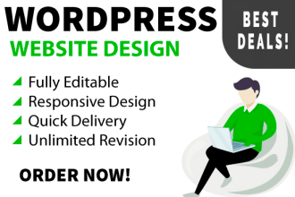 I will create professional wordpress website design