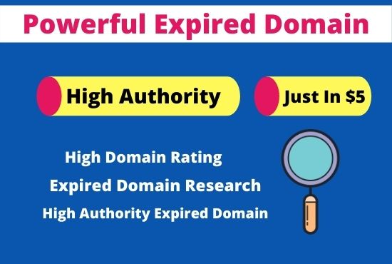 I will do powerful expired domain research for high da domain