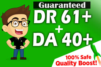 I will increase domain rating DR ahrefs to 60 plus