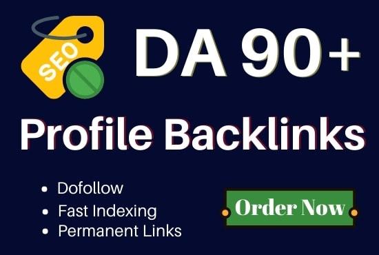 I will do high quality dofollow profile backlinks