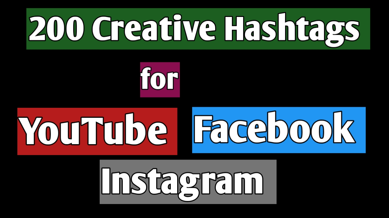 200 Creative And Unique Hashtags For Social Site