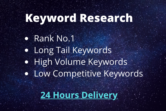 I will do professional Keyword Research for your site