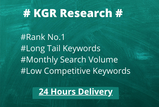 I will do in-depth KGR Keyword research for your site