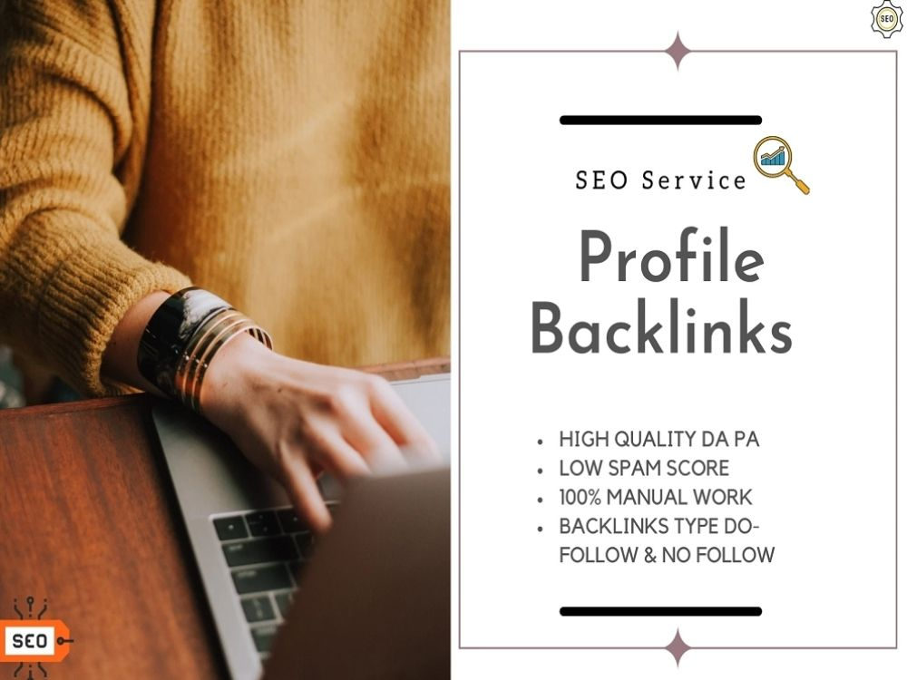 Manually create 100+ High Quality Profile Backlinks with your brand logo & SEO linkbuilding Package
